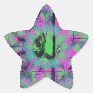 Modelo extraño pegatina en forma de estrella