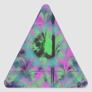 Modelo extraño pegatina triangular
