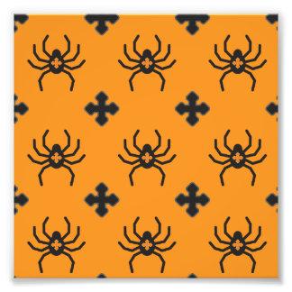 Modelo fantasmagórico de las arañas de Halloween Fotografía