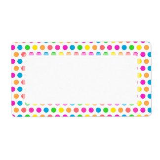 Modelo feliz coloreado arco iris de la diversión d etiquetas de envío