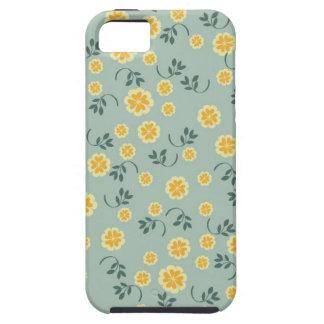 Modelo femenino de la flor floral elegante retra d iPhone 5 Case-Mate cárcasas