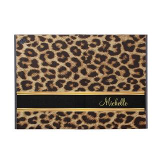 Modelo femenino de la piel del leopardo iPad mini cobertura
