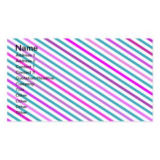 Modelo femenino de las rayas del verde rosado de m tarjetas de visita