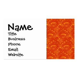 Modelo femenino del cordón anaranjado elegante tarjetas de visita