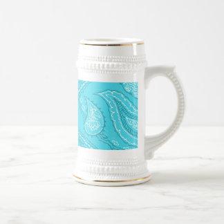 Modelo femenino del estampado del trullo de la div tazas de café