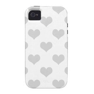 modelo femenino del grunge del emo gris de los cor iPhone 4 carcasa