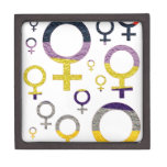 Modelo femenino del símbolo cajas de regalo de calidad