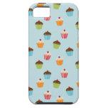 Modelo femenino lindo del foodie de las magdalenas iPhone 5 protectores