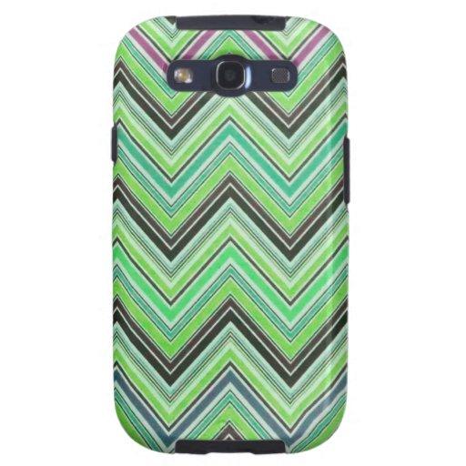 Modelo femenino negro púrpura verde azteca de Chev Samsung Galaxy S3 Fundas