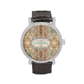 Modelo femenino - nombre - inicial - reloj del mon