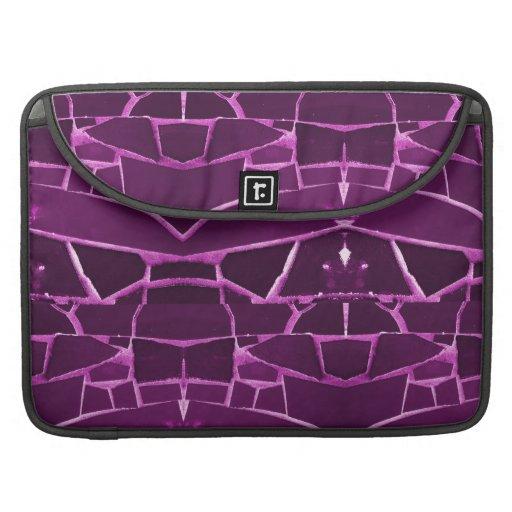 Modelo femenino púrpura bonito de las tejas de mos funda para macbook pro