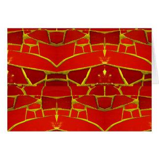 Modelo femenino rojo bonito de las tejas de tarjeta pequeña