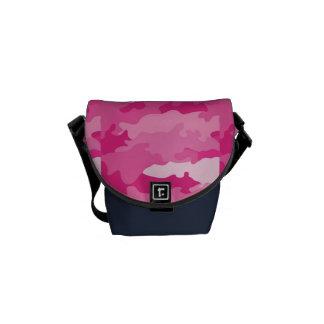 Modelo femenino romántico del rosa del camuflaje bolsa de mensajería