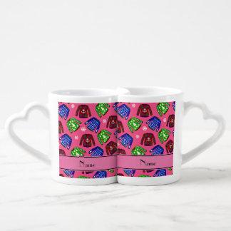 Modelo feo rosado conocido de encargo del suéter taza para parejas