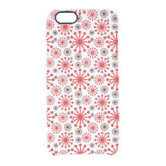 Modelo festivo de los copos de nieve del invierno funda clearly™ deflector para iPhone 6 de uncommon