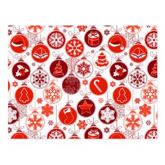 Modelo festivo del ornamento del árbol de navidad tarjetas postales