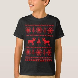 Modelo festivo del suéter del navidad