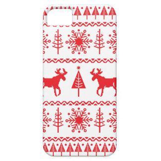 Modelo festivo del suéter del navidad iPhone 5 cobertura