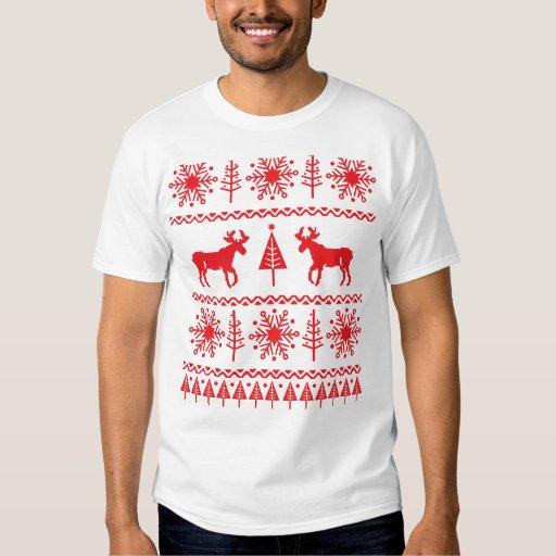 Modelo festivo del suéter del navidad playera