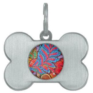 Modelo festivo intrépido vibrante del encaje de placas de mascota
