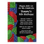 Modelo - fiesta de cumpleaños de los bloques hueco