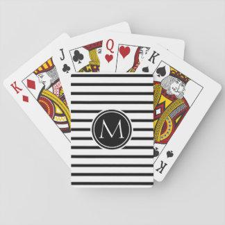 Modelo fino de las rayas barajas de cartas