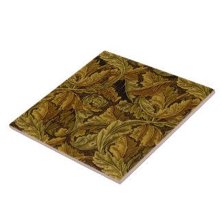 Modelo fino del papel pintado floral de William Azulejo Cuadrado Grande