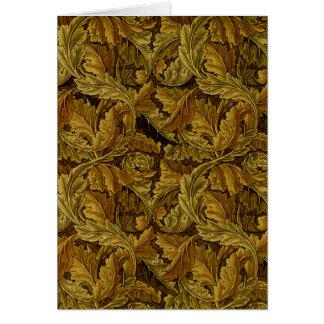 Modelo fino del papel pintado floral de William Tarjeta Pequeña