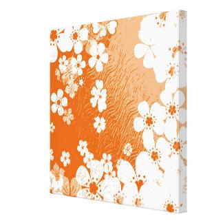 Modelo floral 6 del fondo del grunge del arte impresión en lona