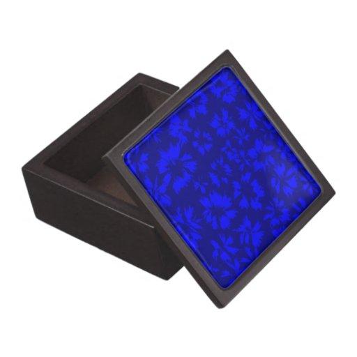 Modelo floral abstracto azul profundo cajas de regalo de calidad
