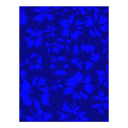 Modelo floral abstracto azul profundo plantilla de membrete