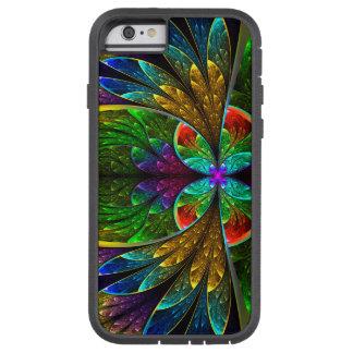 Modelo floral abstracto del vitral funda de iPhone 6 tough xtreme