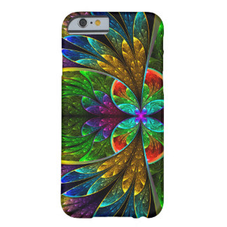Modelo floral abstracto del vitral funda para iPhone 6 barely there
