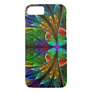 Modelo floral abstracto del vitral funda iPhone 7