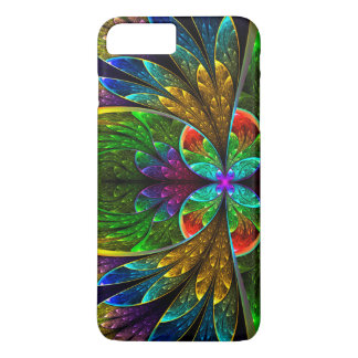 Modelo floral abstracto del vitral funda iPhone 7 plus