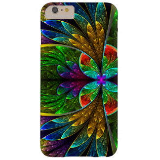 Modelo floral abstracto del vitral funda para iPhone 6 plus barely there