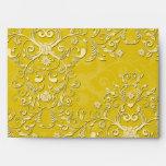 Modelo floral amarillo vibrante del damasco
