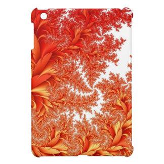modelo floral anaranjado del fractal iPad mini cárcasas