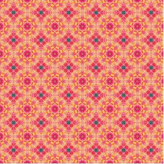 Modelo floral anaranjado rosado abstracto colorido fotoescultura vertical