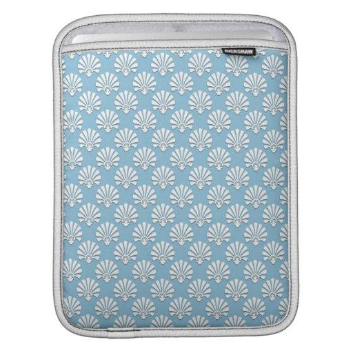 Modelo floral azul claro y blanco de Nouveau Mangas De iPad