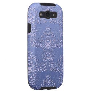 Modelo floral azul complejo del damasco galaxy SIII cárcasas