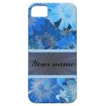 Modelo floral azul de la margarita iPhone 5 Case-Mate cárcasa