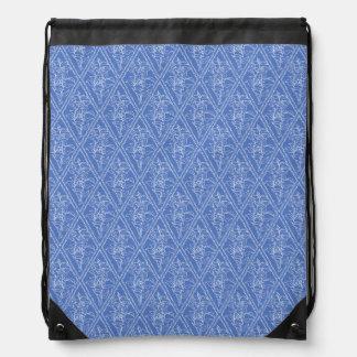 Modelo floral azul del diamante del bígaro mochila