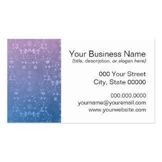 Modelo floral azul púrpura elegante del damasco tarjetas de visita