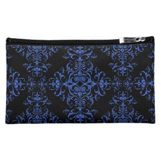 Modelo floral azul y negro elegante del estilo del