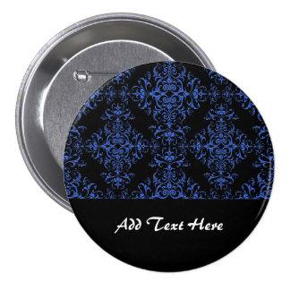 Modelo floral azul y negro elegante del estilo del pin