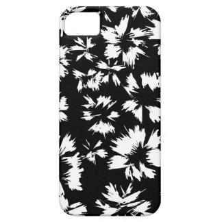 Modelo floral blanco y negro iPhone 5 carcasa