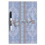 Modelo floral Brown azul del papel pintado de la d Tableros Blancos