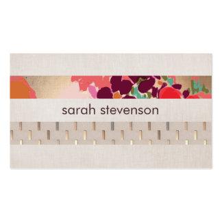 Modelo floral colorido artístico elegante de la ra tarjetas de visita