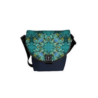 Modelo floral de la acuarela del lux caprichoso bolsa de mensajeria